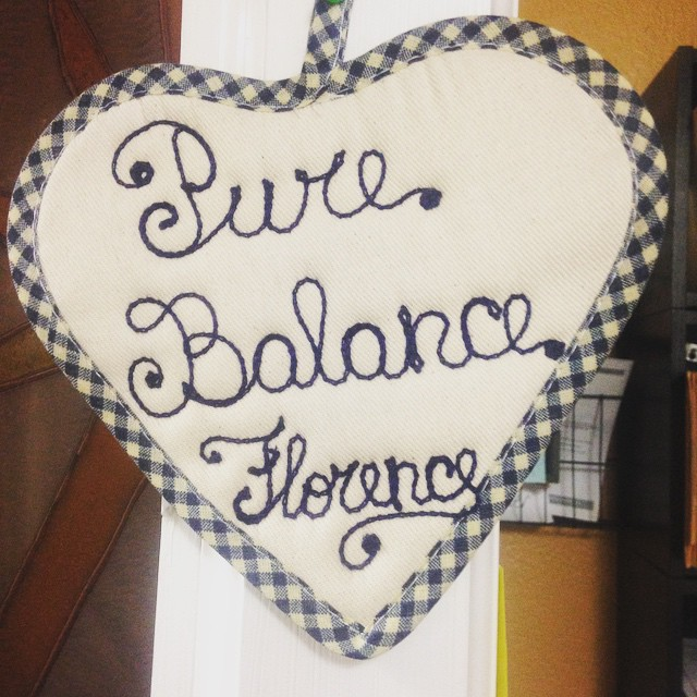 A beautiful gift from our good friend and longtime member Florence! Thank you so much!
