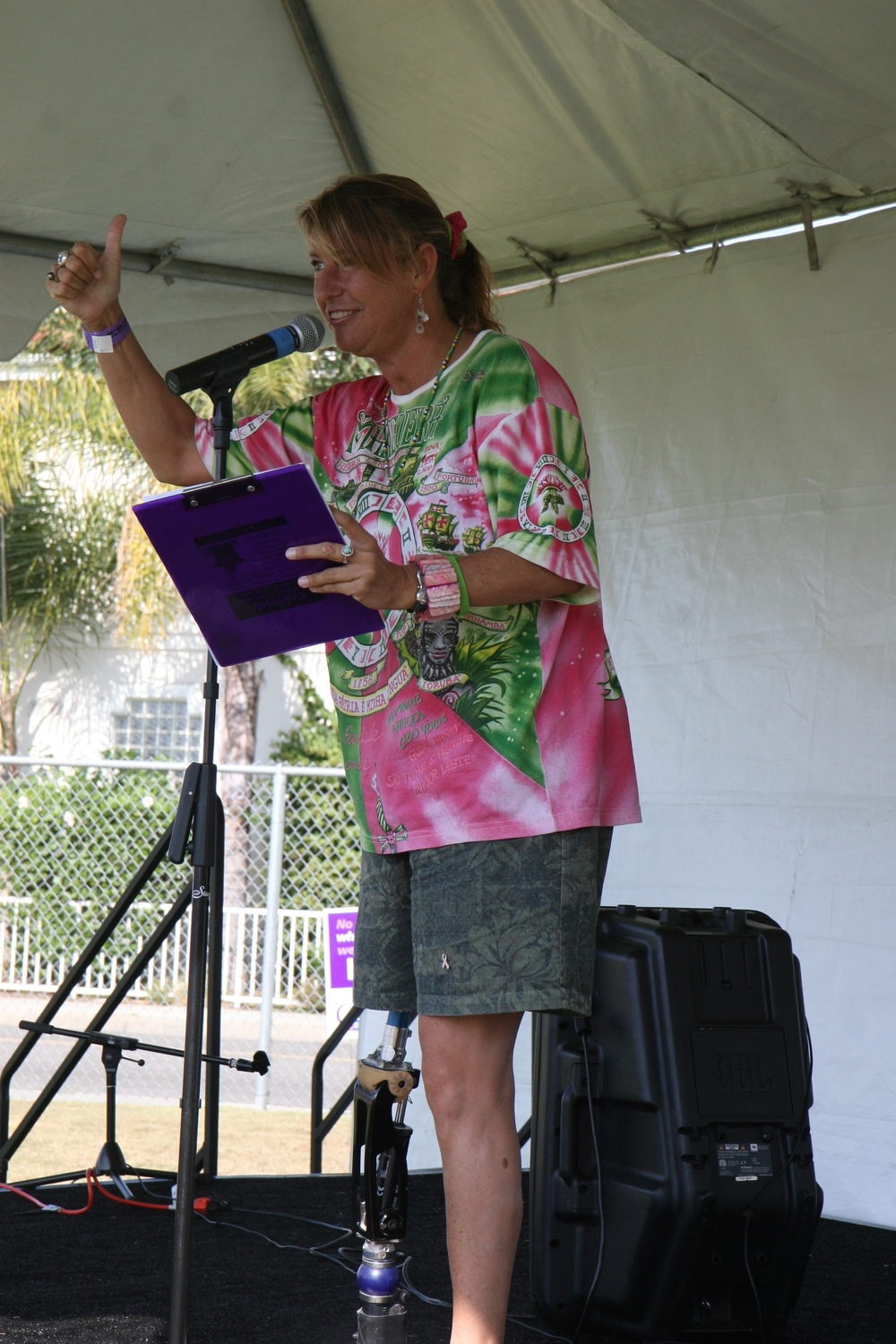 Keynote Speaker at Beach Cities Relay For Life/ Redondo Beach, CA