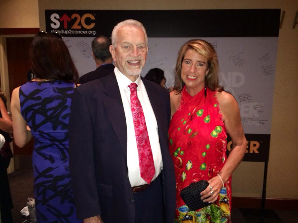 Judge and me in front of SU2C Wall at the Dolby Theatre