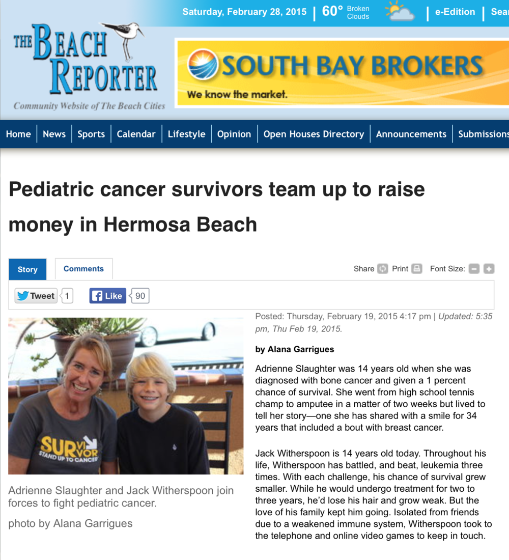 Pediatric Cancer Survivors Article