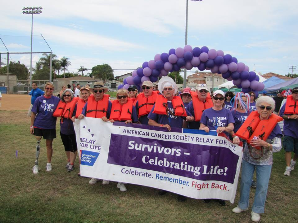 "Keynote Speaker Adrienne Slaughter joins ""Survivors Walk"" at Relay For Life."