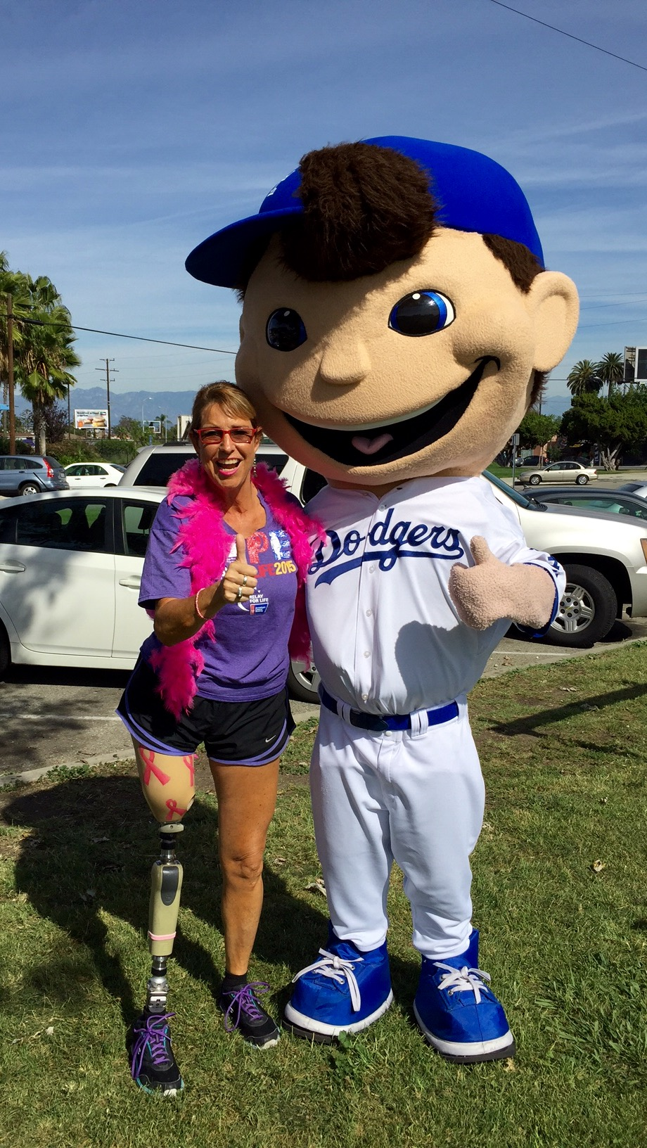 With LA Dodgers' Mascot/ Jesse Owens Park, Los Angeles