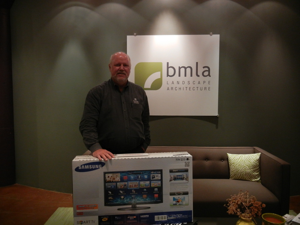 "Congratulations to Baxter Miller of BMLA for winning a  Samsung LED 32"" SmartTV during the May New Member Drive raffle!"