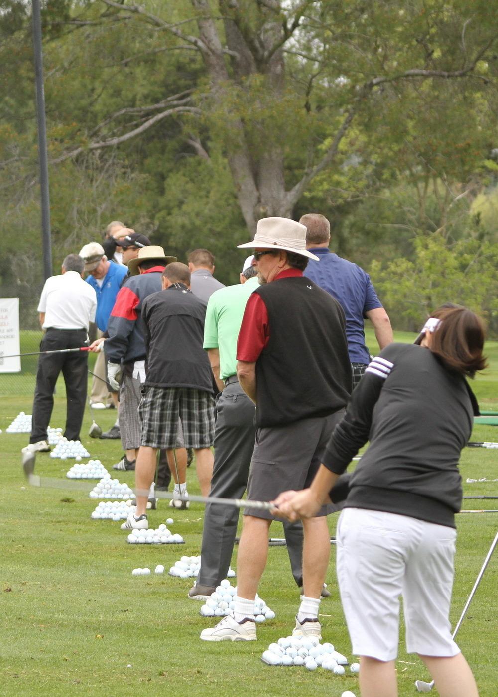 Golfer's Warming Up