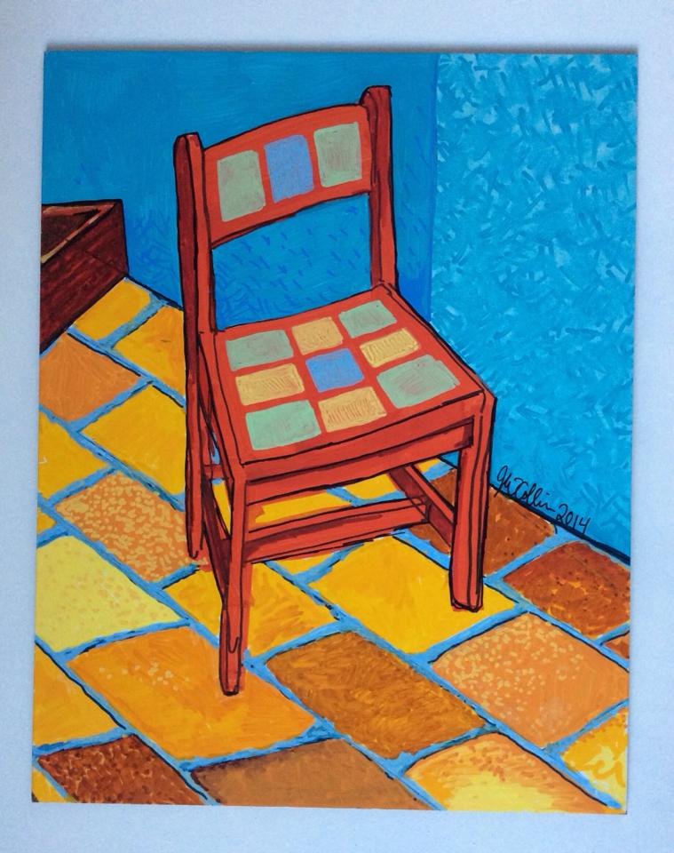 Van Gogh-ish Chair - SOLD  sc 1 th 253 & Jay Winter Collins