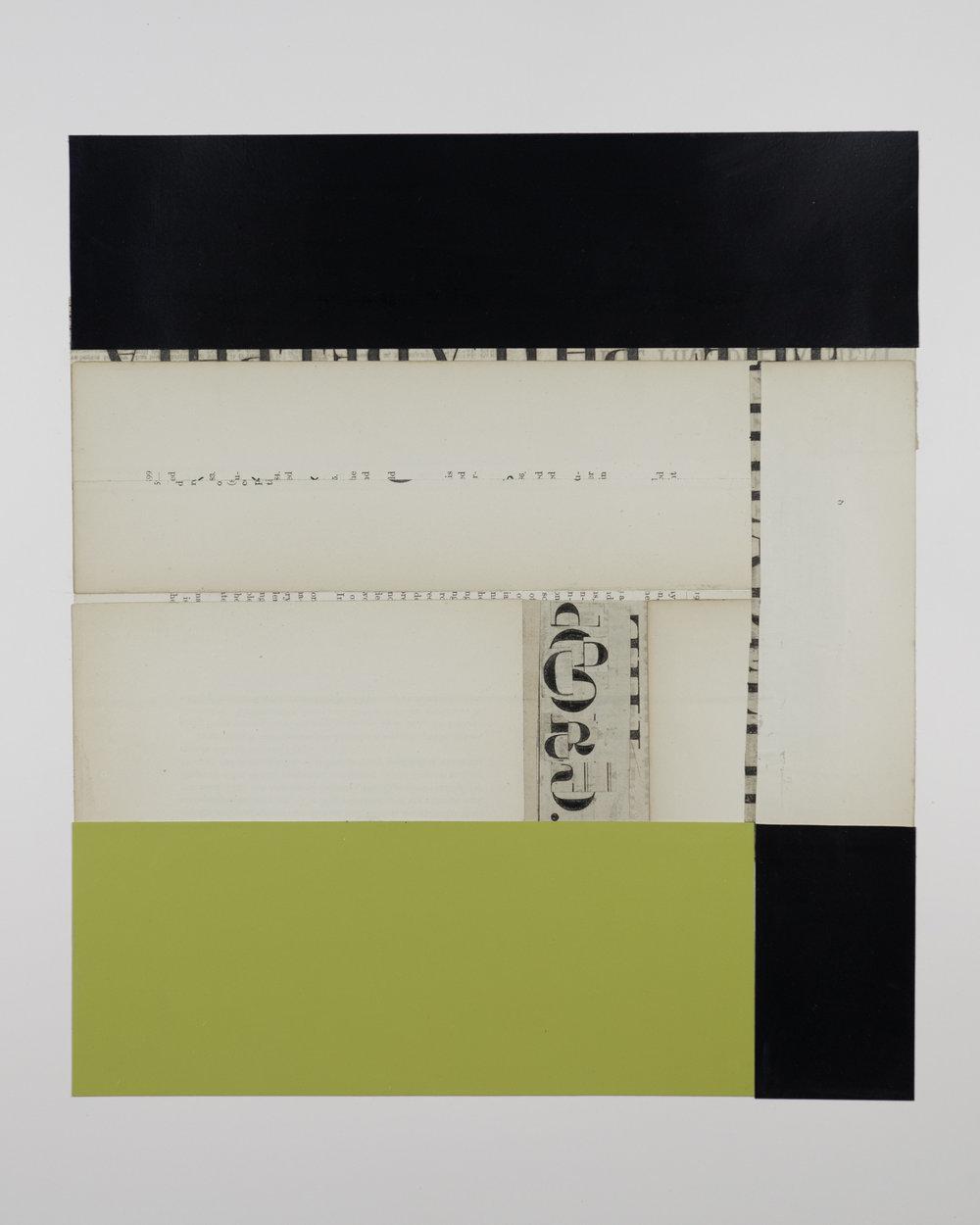 """1511  Acrylic paint, vintage paper  12"""" x 14"""""""