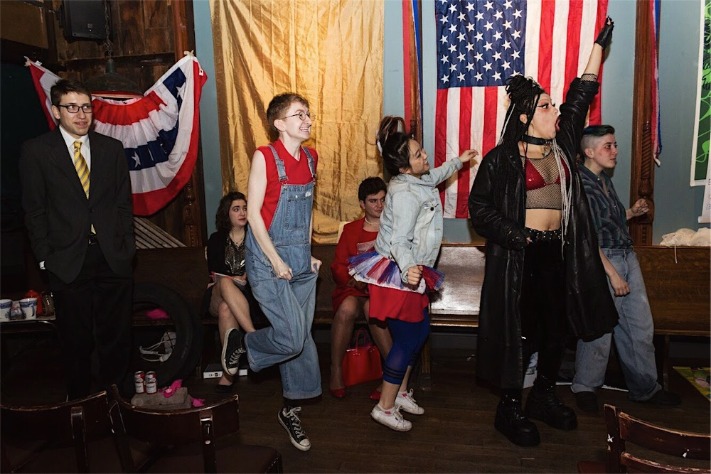 JUDY DOOMED US ALL   A gritty, political, Americana musical wrapped in a tumbleweed and served on a tablecloth from Party City. Set on the 4th of July in a re-imagined 1980s, a fictionalized Nancy Reagan continues her Grand National Tour across the Heartland.