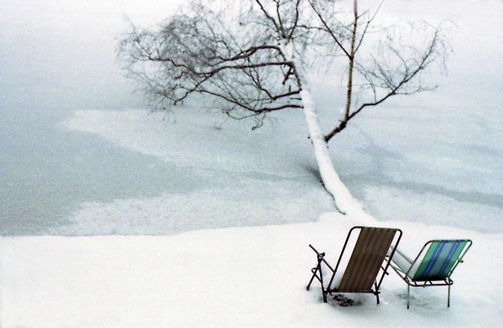 seasons summer winter Frozen Lake