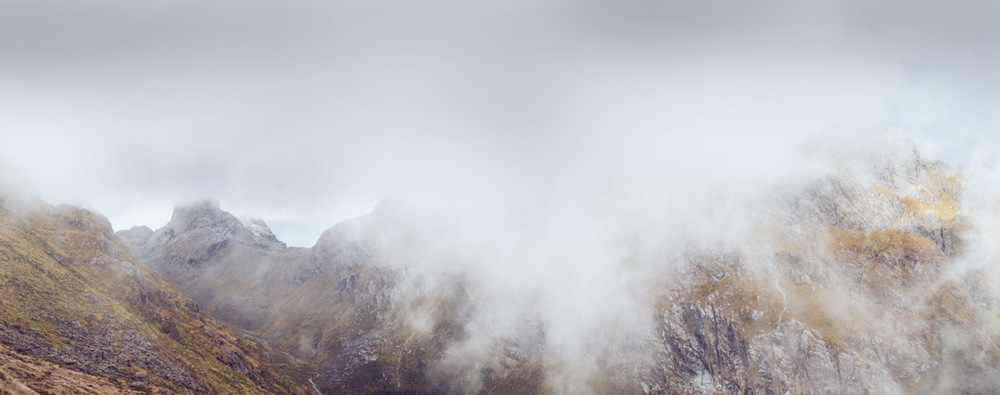 landscape photography Misty New Zealand Mountains