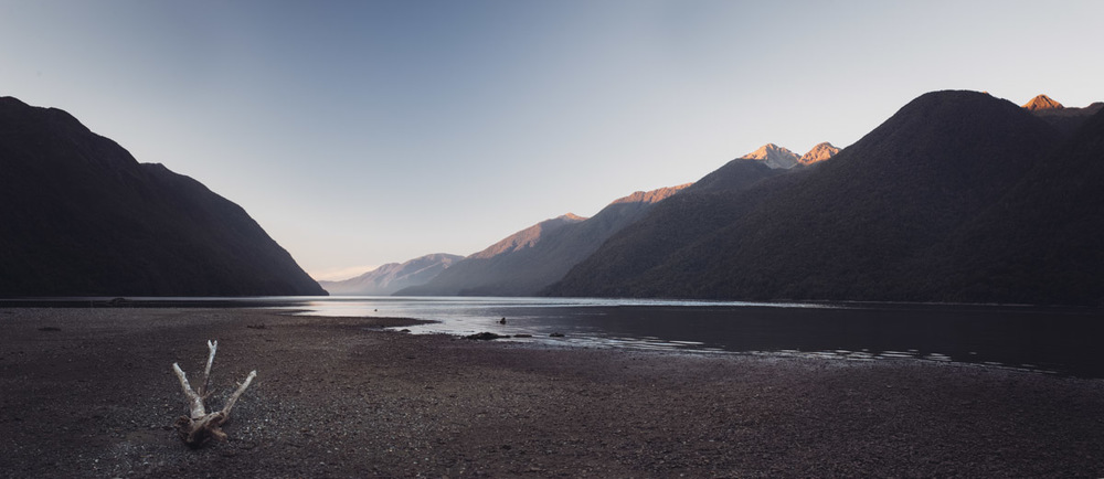 landscape photography Driftwood Lake McKerrow Whakatipu