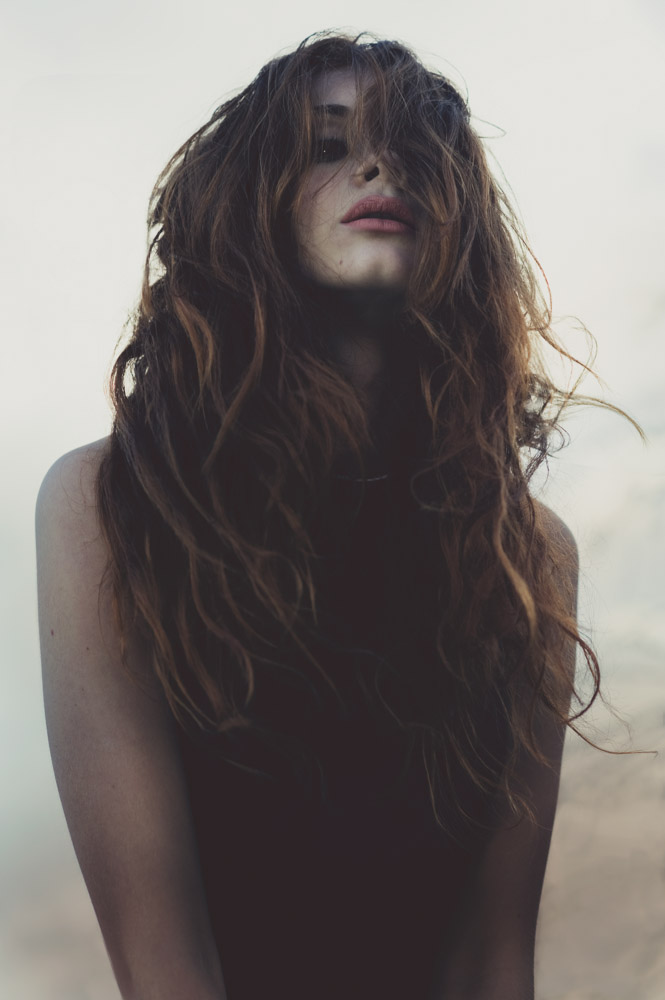 Portrait girl molly folkard fashion long hair