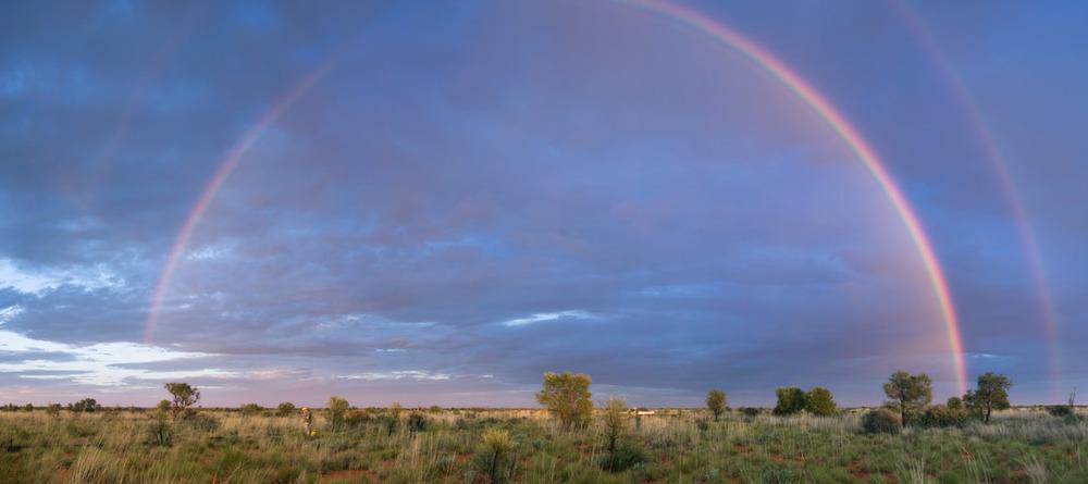 newhaven sanctuary rainbow outback Australia landscape photography