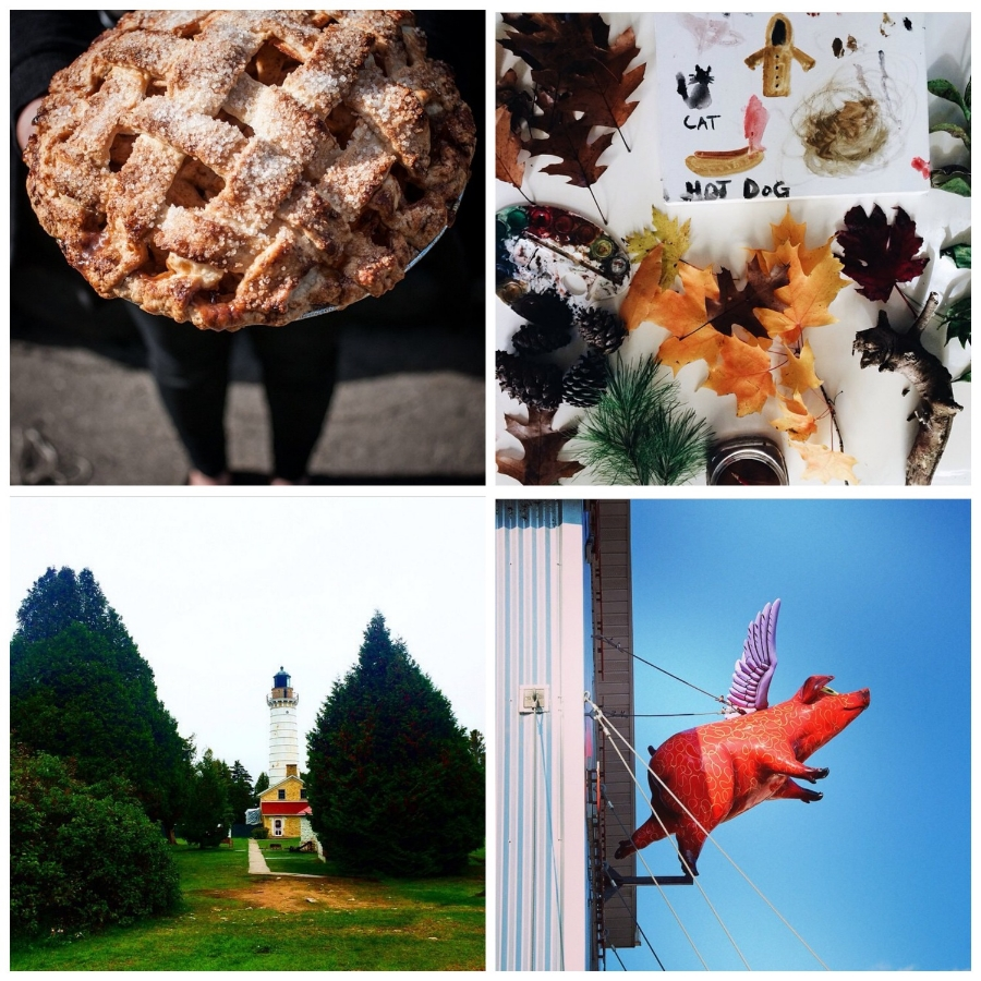 This week's Instacrushes! Clockwise from top left: @powercorruptionandpies, @johnnaholmgren, @tesseraphotos, @lpodlich