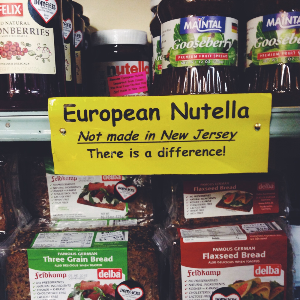 European Nutella at Domeier's German Store in New Ulm, Minnesota