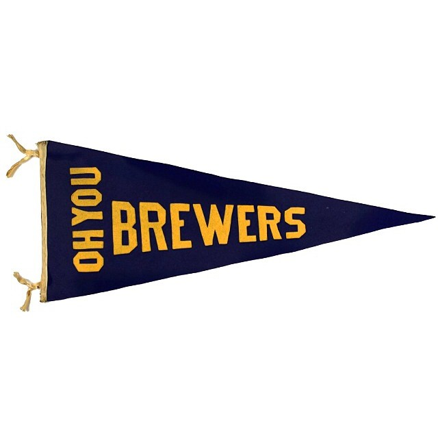 1913 Milwaukee Brewers Pennant - Midwestival Gift Guide