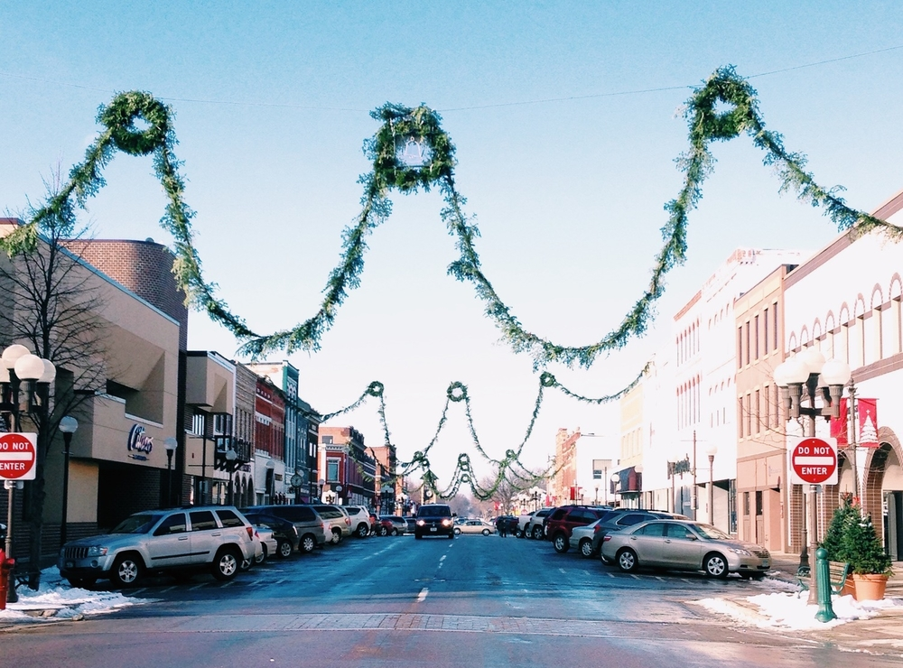 Downtown New Ulm, Minnesota in November 2014