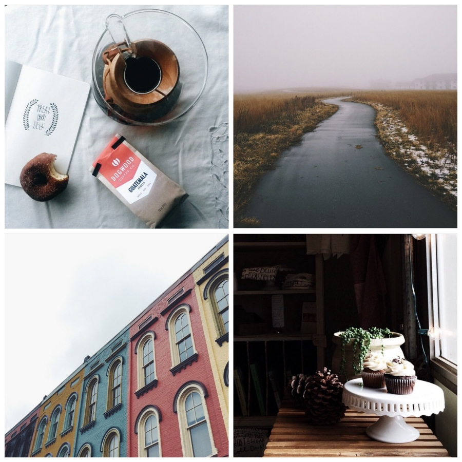 This week's Instacrushes! Clockwise from top left: @ kalgerbs , @ jonkratz , @ juneandjae , @ 3ritt