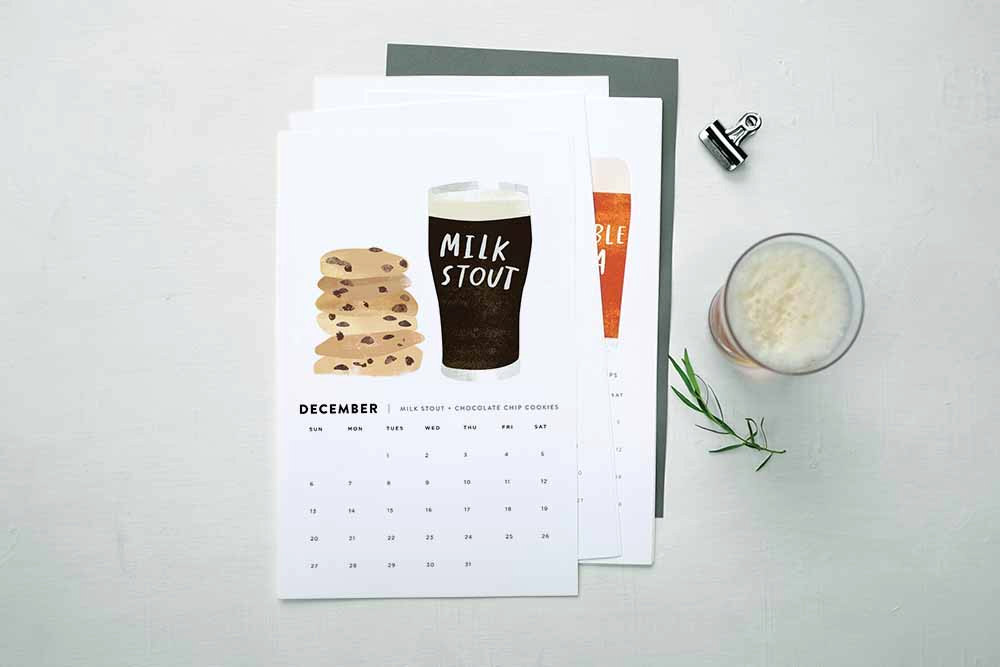 Beer and Food Calendar by Red Cruiser (13 Midwest Made Calendars for 2015 - The Midwestival)