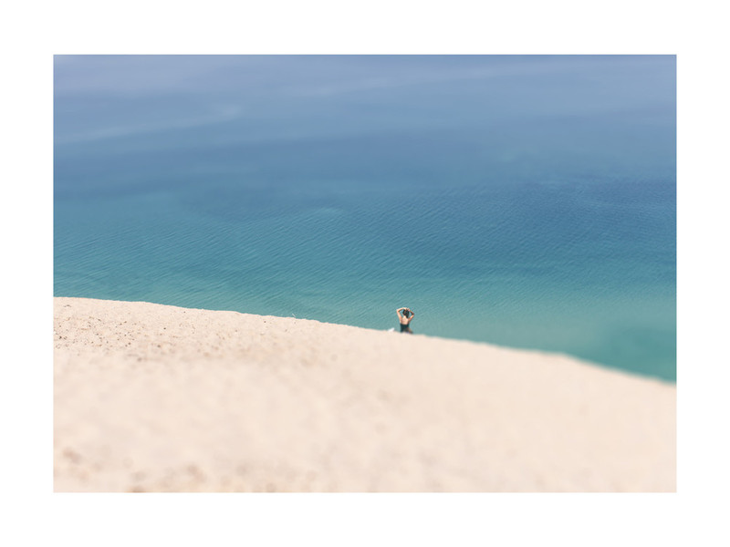 Lone Sunbather on Dunes by Heather Nash (Minted Artists from the Midwest)