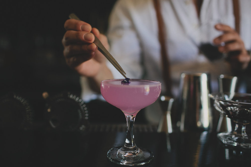 Drinking Violets: Violet Cocktails from Gib's Bar and The Midwestival