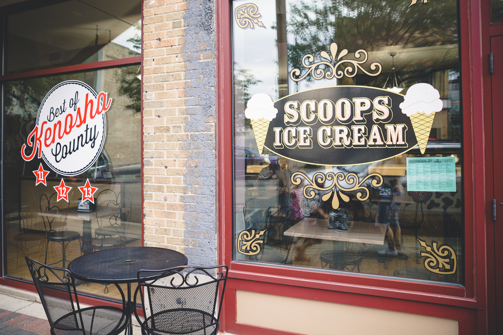 Scoops Ice Cream in Kenosha City Guide via The Midwestival