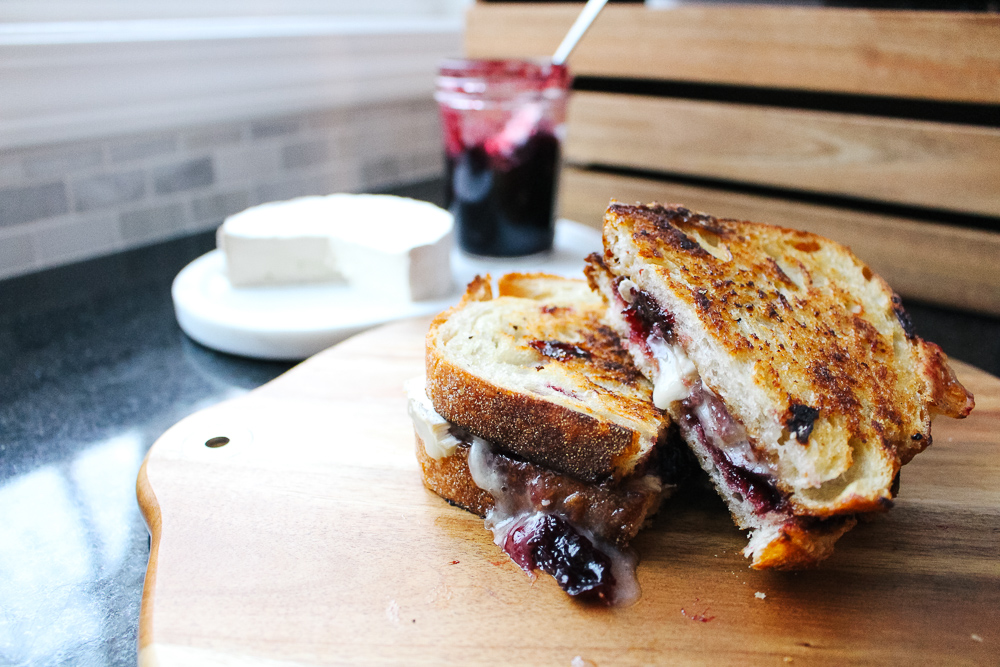 Brie and Black Cherry Jam Grilled Cheese via The Midwestival