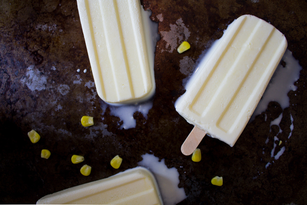 Sweet Corn Popsicles via The Midwestival (Iowa-Themed Popsicle!)