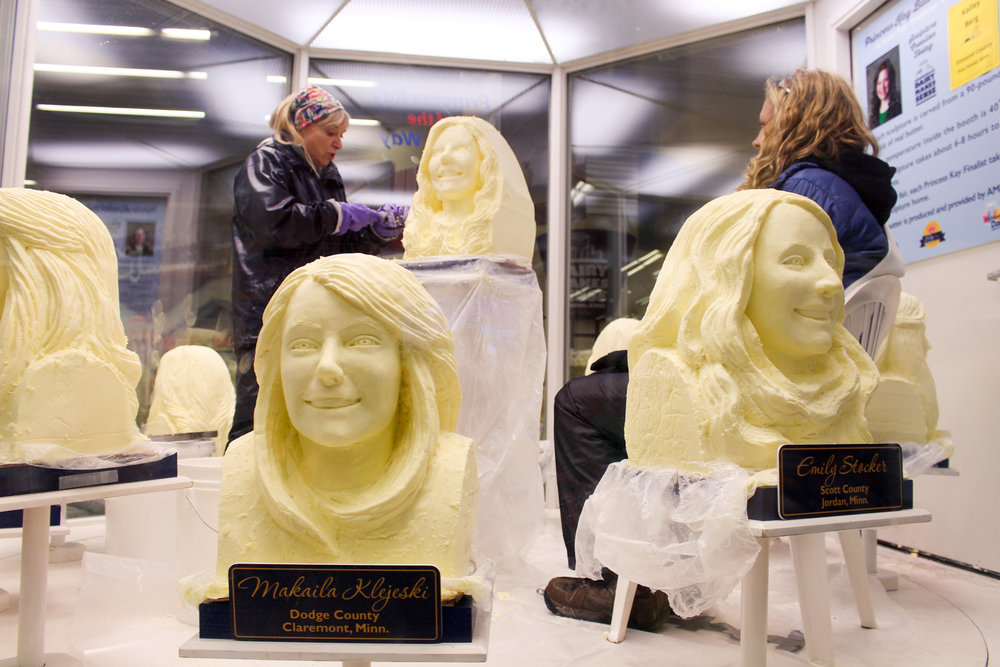 Butter Sculptures at Minnesota State Fair 2016 via The Midwestival