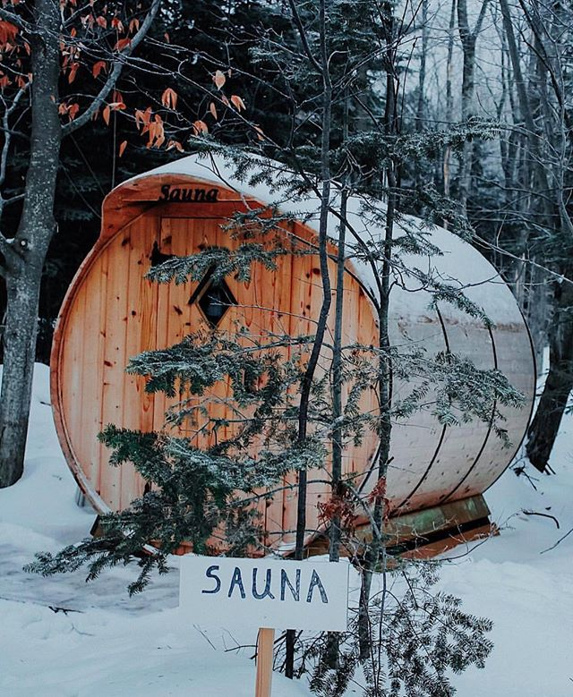 Simultaneous steam bath and forest bath. ❄️🌲🛁 #themidwestival (via @moodycabingirl)