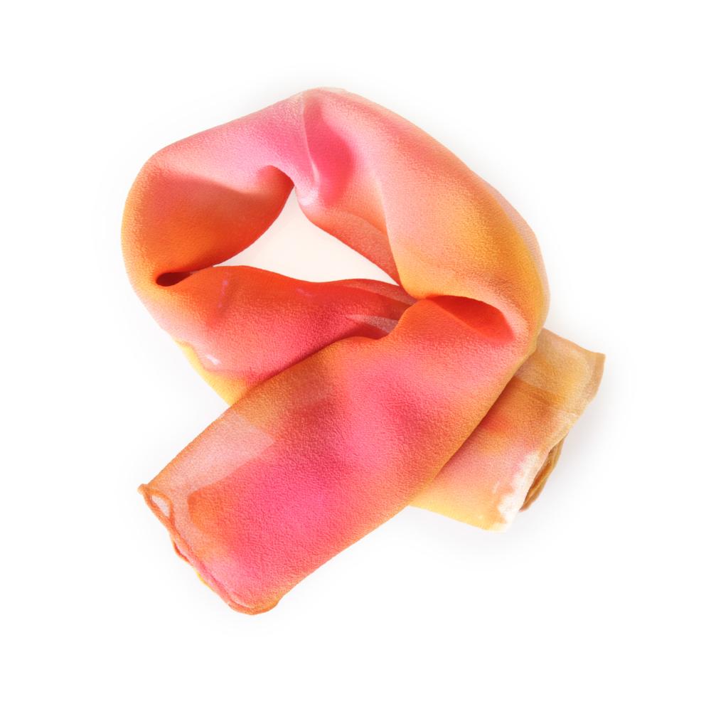 Hand painted silk scarf by Wanderlustings
