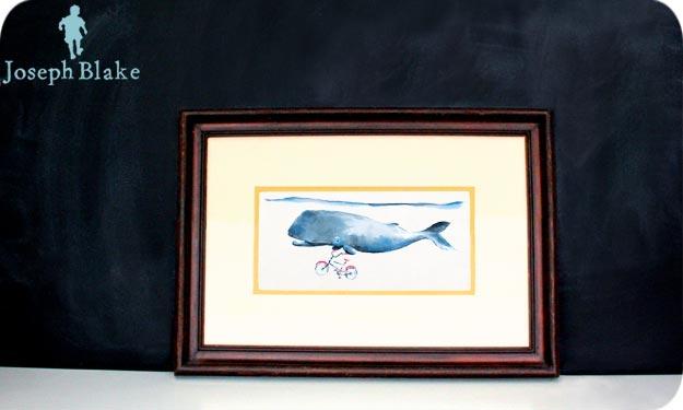 A Whale Named Wheelie (framed)
