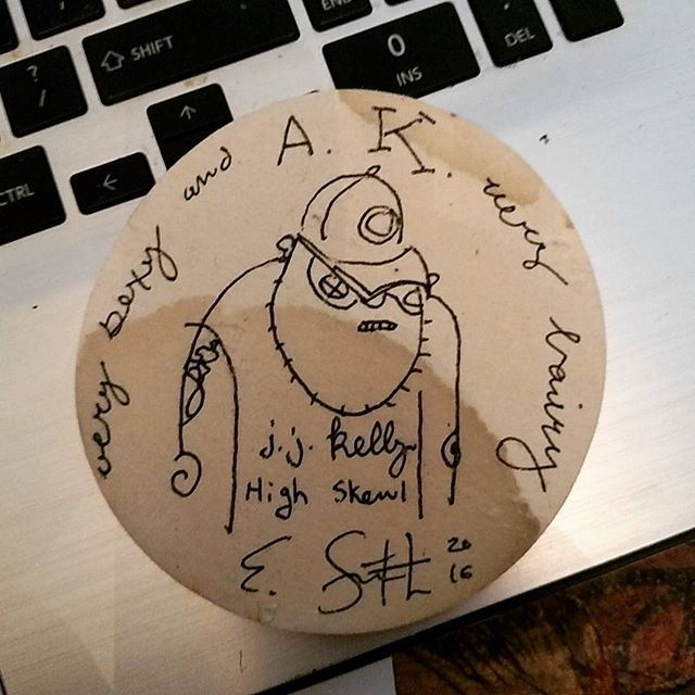 A coaster I drew on featuring the one and only Adam Kennedy... Completed on our gang's brewery tours trip in 2016, in celebration of my fortieth.
