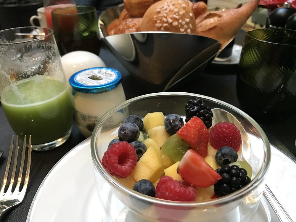 Healthy breakfast compliments of the Luxury Circle