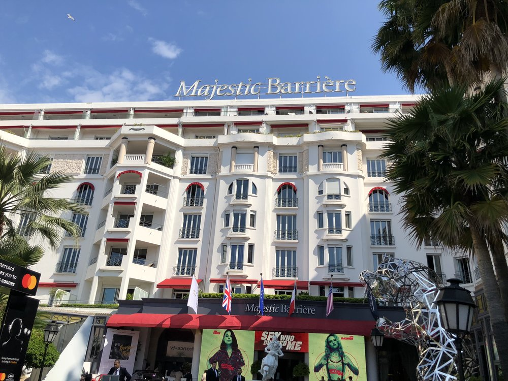 Located on the Croisette in Cannes