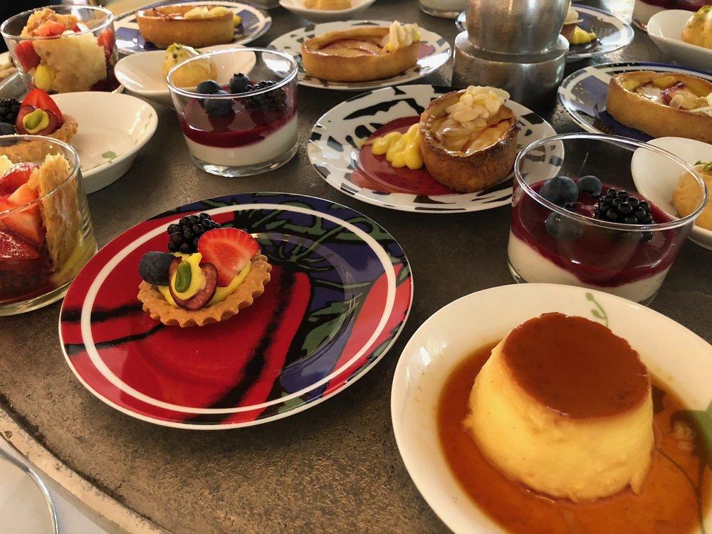 Weekend brunch dessert table