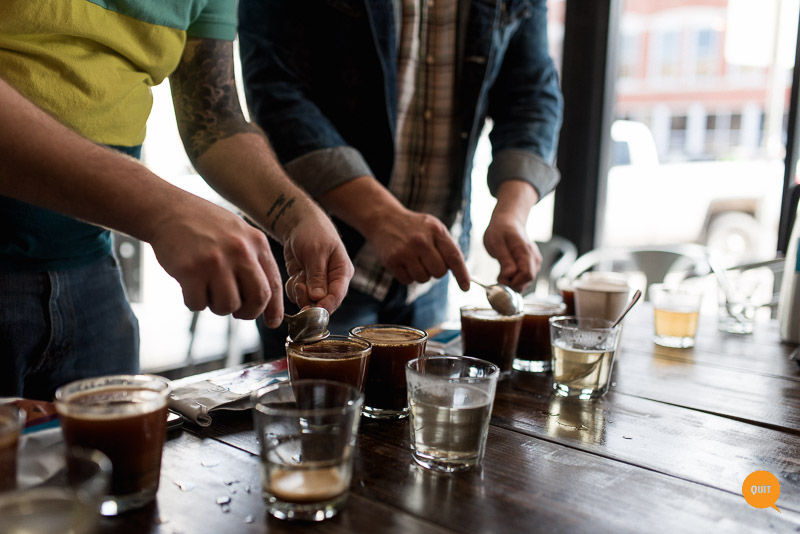 Blueprint Coffee Cupping at Syrup Breakfast