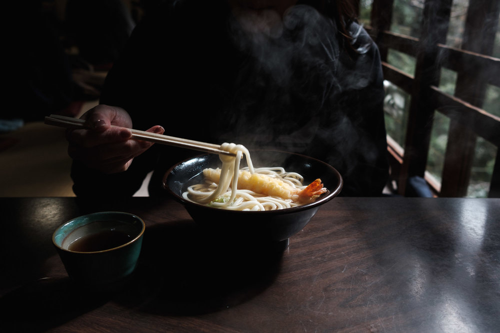 Tempura Udon at the Fushimi Inari Shrine