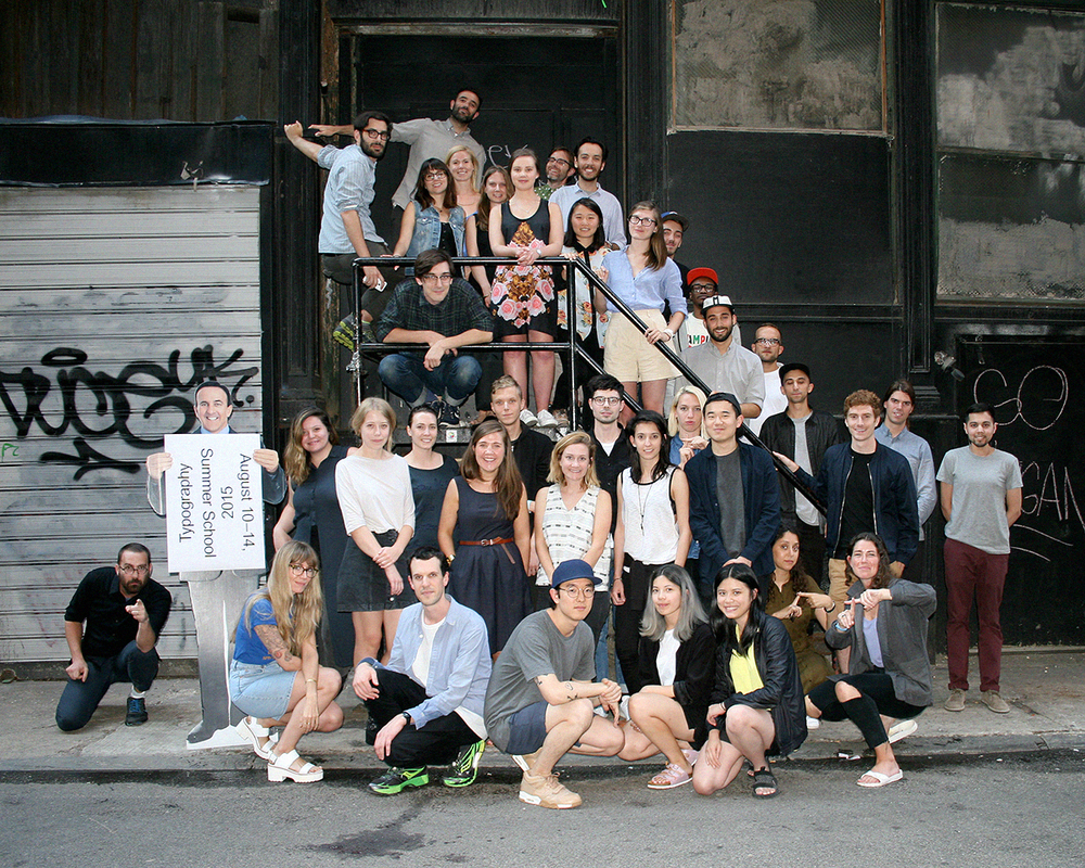 New York Typography Summer School class photo