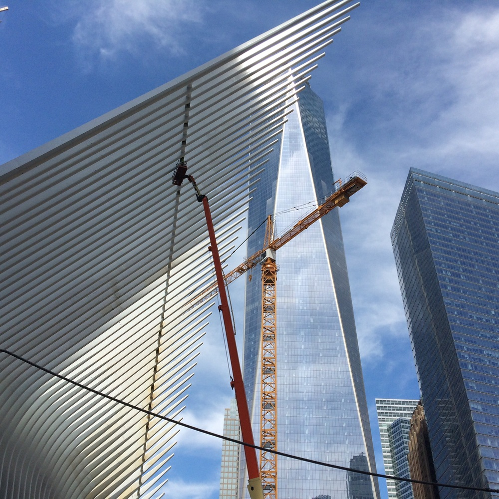 Cranes, construction and the One World Trade Center