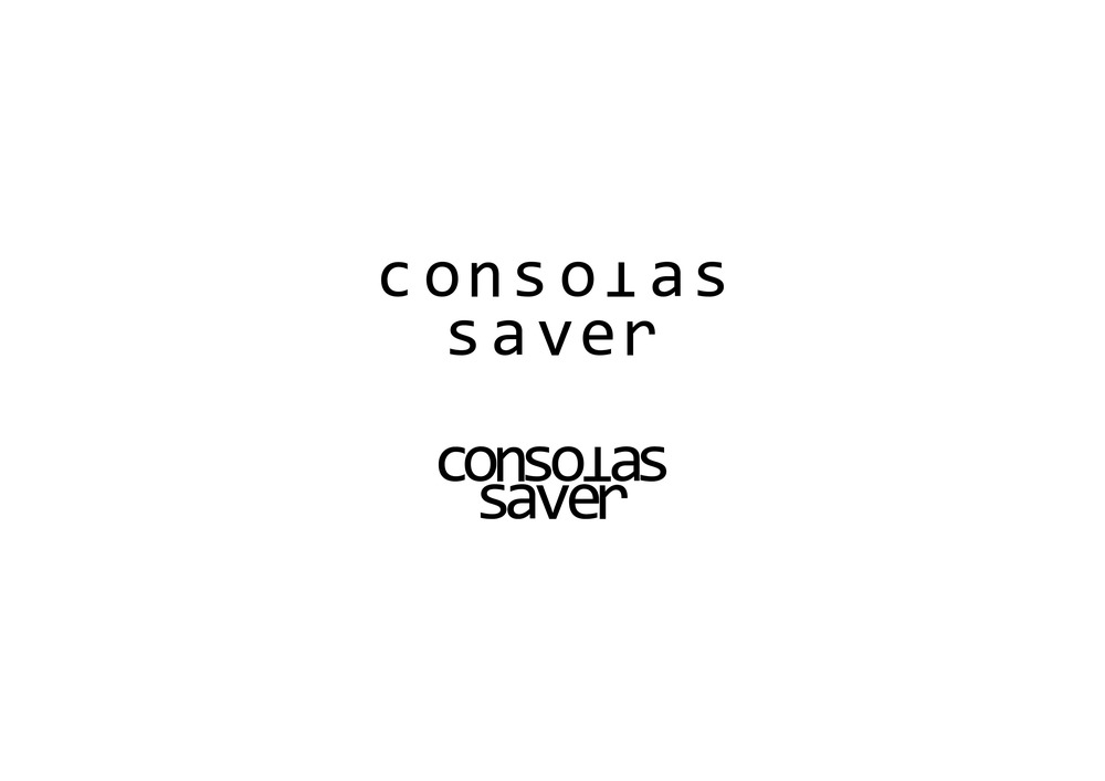Form and function of Consolas Saver