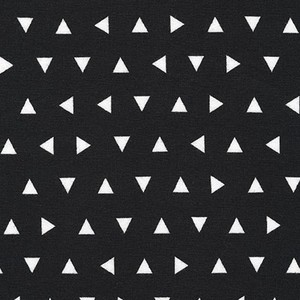 Tossed Triangles Knit in Black