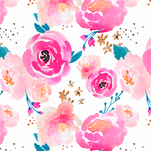 Punchy Floral in Fuscia