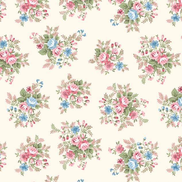 Garden Floral in Cream