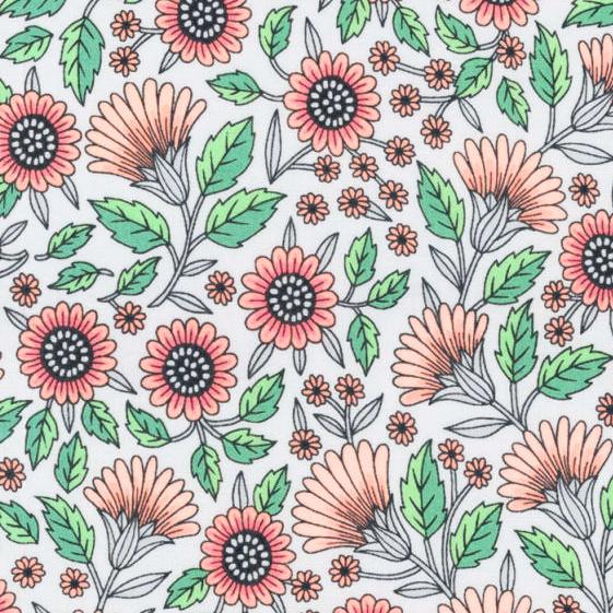 Delphine Flowers White