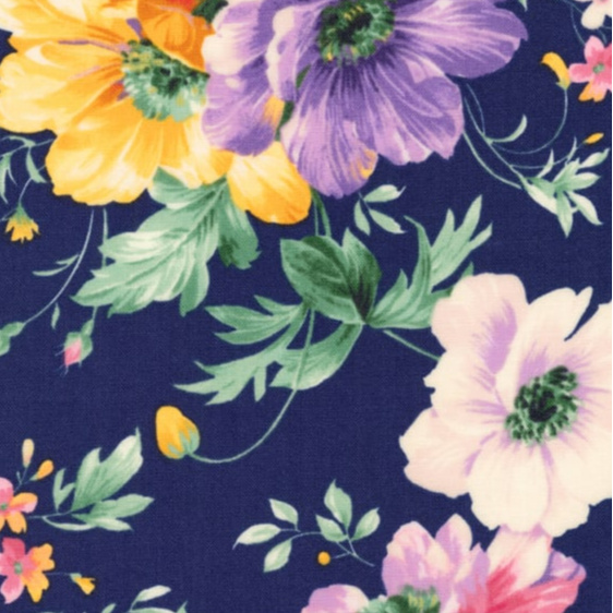 Blossom Flowers in Navy