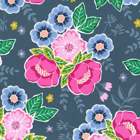 Floral Bouquet in Periwinkle