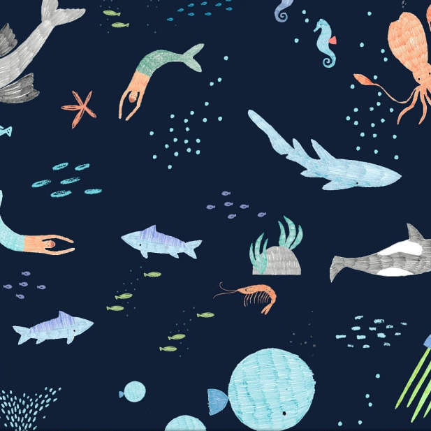 Sea Animals in Navy