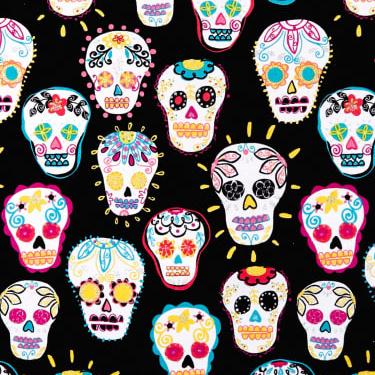 Sugar Skulls Metallic in Black