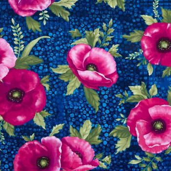 Poppies in Midnight Fuchsia