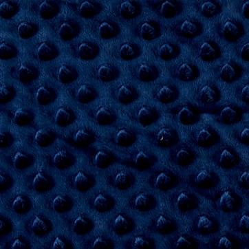 Navy Minky Dot